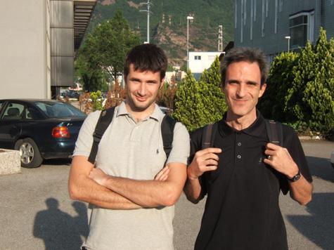 Massimo Cittadini, a destra, e Matteo Giuliani
