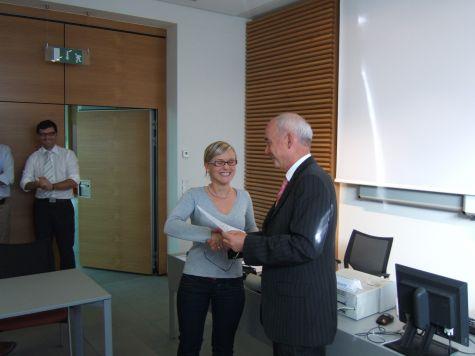 Daniela Kröss con il suo direttore