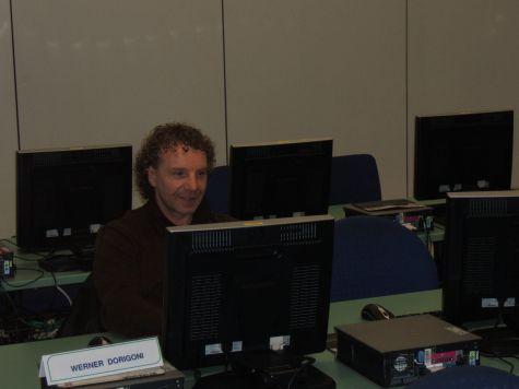 Werner Dorigoni, particolarmente concentrato...