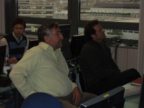 Egon Gruber, Werner Theil e Mario Orlandi