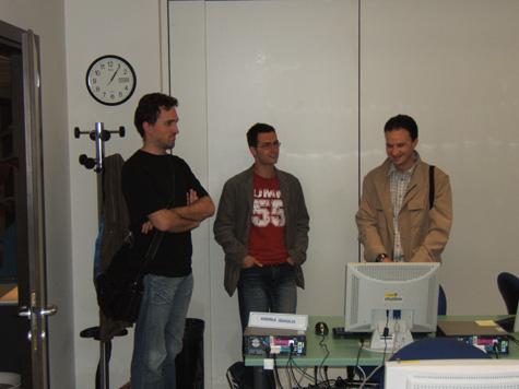 Pubblico e privato ... Giorgio Bertoluzza (Comune di Laives), Andreas Quaglio (Dexea) e Maurizio Zorzi (Comune di Egna)