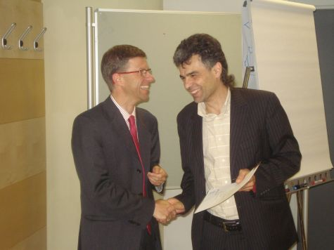 Alberto Malavasi, di Bolzano, riceve l´attestato di partecipazione