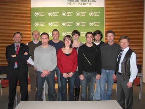 I partecipanti al corso con i docenti Luciano Fiori e Franz Zuckerstätter