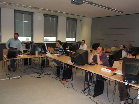 Roberto Scano con Diego Pampagnin, Marco Recla di Informatica Alto Adige e Valentina Portolan di OpenIT