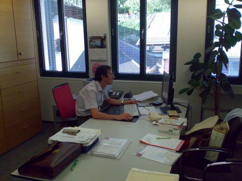 Il coordinatore del corso Lukas Kiesswetter, che ha dato un contributo prezioso ed indispensabile per lo sviluppo dei casi aziendali