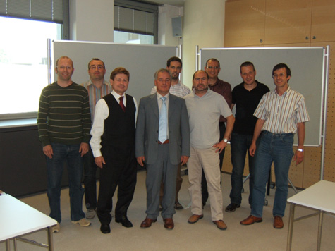 I partecipanti, al termine del corso, in compagnia del docente Franz Zuckerstätter e del coordinatore Lukas Kiesswetter