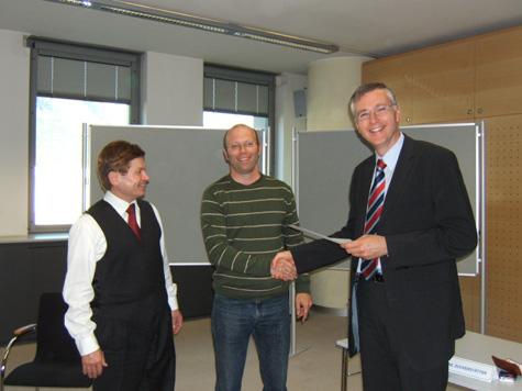 Franz Zuckerstätter, Georg Kaserer e Manfred Huber