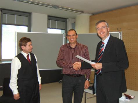 Franz Zuckerstätter, Günther Unterkofler e Manfred Huber