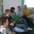 I partecipanti in un momento dedicato all´analisi dei video registrati nel corso delle simulazioni di colloqui