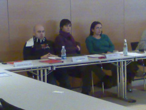 Monica Serafini tra Luca Mezzalira ed Eugenia Franzoni. Quasi a rappresentare l´emiciclo parlamentare...