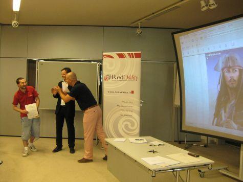 Oscar Zambotti - ICT secure programming expert, nonché mirabile collaboratore nella realizzazione del morfing dei suoi colleghi