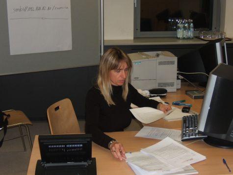La docente del corso Tatjana Finger