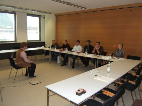 I partecipanti con Franz Zuckerstätter