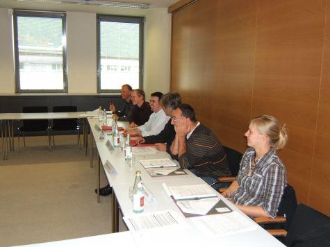 I partecipanti durante un momento dell´ultima giornata di formazione