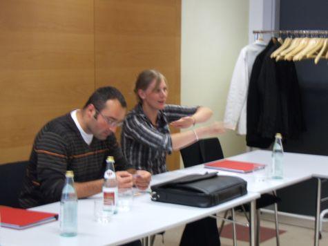 Andreas Josef Nigg e Simone Ortler della Cassa Raiffeisen di Prato allo Stelvio