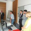 Eduard Enrich, Direttore della Cassa Raiffeisen di Lagundo, con i docenti