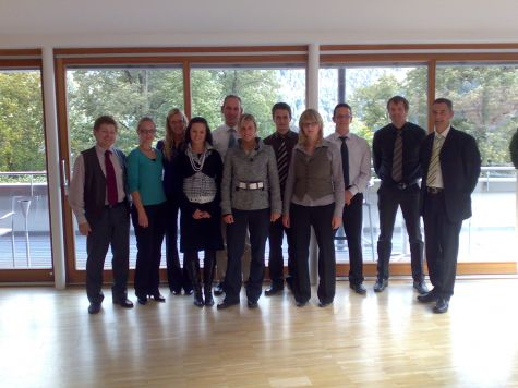 I partecipanti al corso con Klaus Gruber ed il docente Franz Zuckerstätter
