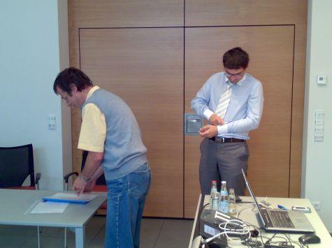 Terminati i lavori Lukas Kiesswetter e Ivan Fogliata attendono i partecipanti...