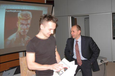 Dawin Pogorzelski... Dai tetti dell´Hotel Eisenhut al ritiro dell´attestato di partecipazione.. Un percorso impegnativo