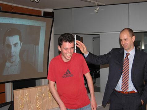 Nosferatu (la trasformazione), Ivan Valentini (com´era) e Federico Pitone, coordinatore del corso